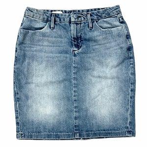 Gap Jean Knee Length Skirt